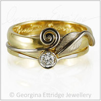 Solitaire and Wedding ring Set