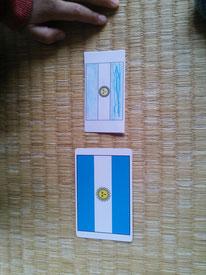 アルゼンチンの国旗で比べてみました