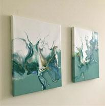 Blog: oefenen met acrylgieten of paint pouring