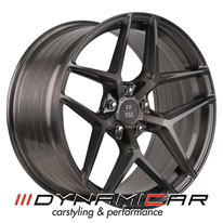ELEGANCE WHEELS FF 550 DEEP CONCAVE LIQUID BRUSHED METAL