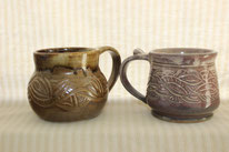 Hand-Carved Mugs--$20