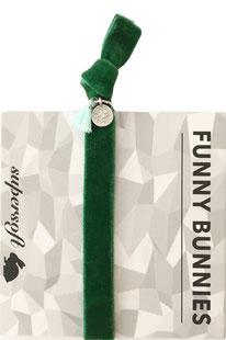1 elastisches Samt Armband mit Tassel und Anhänger Velvet 07