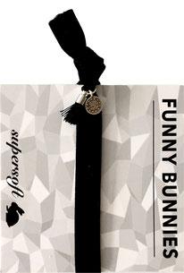 1 elastisches Samt Armband mit Tassel und Anhänger Velvet 11