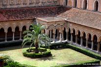 Monreale - Cloître des Bénédictins - Sicile - Italie