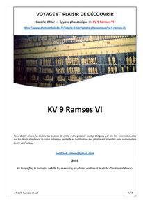 Monographie : KV 9 - Ramsès IX