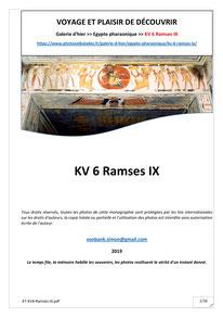 Monographie : KV 6 - Ramsès IX - XX° dynastie