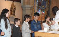 1ère communion à St Melaine