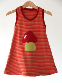 Lumpenprinzessin Jerseykleid Pilz bunt geringelt Genähtes/Handarbeit, hergestellt in Deutschland