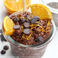 Choco-sinaasappel chia pudding