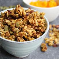 Pompoen-pindakaas granola