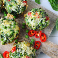 Ei muffins met groene groenten