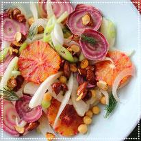 Venkel bloedsinaasappel salade