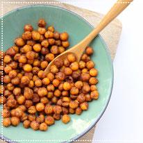 Geroosterde kikkererwten met honing& kaneel