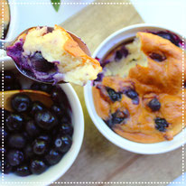 Hüttenkäse ontbijt muffin