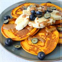 Zoete aardappel pancakes
