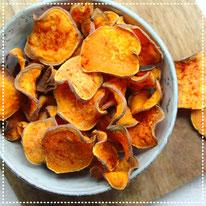 Zoete aardappel paprika chips