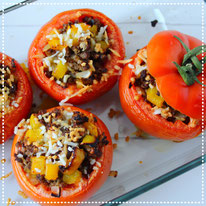 Gevulde tomaat uit de oven