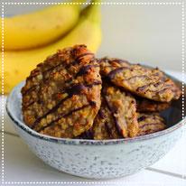 Banaan havermout koekjes