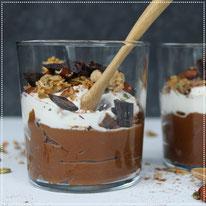 Pompoen-chocolade mousse