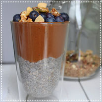 Chia pudding & chocolade mousse