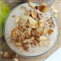 Peer-banaan-amandel smoothie