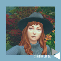 @simsbylinea sims4 cas redhead girl