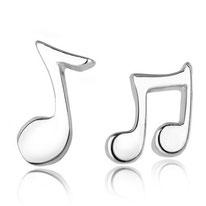 boucles d'oreilles note de musique clou en argent plaqué