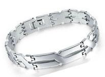Bracelet en acier Inox , cadeau mode homme