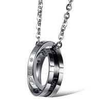 chaine homme grainn de café argent avec anneaux