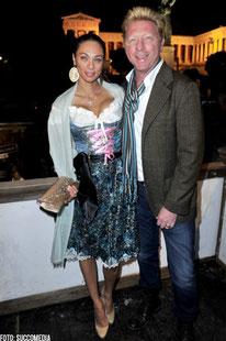 Lilly Becker mit ihrem Mann Boris Becker