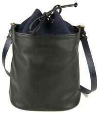 sac main en cuir noir, Pôle Saule Paris, Label Fabriqué à Paris