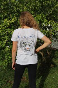 Vêtements coton bio représentant des animaux menacés ou rares.