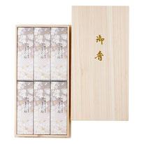 進物線香「淡墨の桜 6箱入」桐箱入