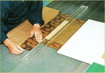掛軸表装の緞子合わせイメージ