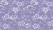 掛軸表装 和紙緞子 藤紫
