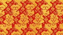 掛軸表装 仏用緞子 準金襴富田雲(内廻し用)