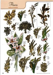 bronze-funeraire-gerbes-bouquets-arum-pensees