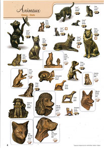 bronzes-plaques-funeraires-chats-chiens-animaux-caniche