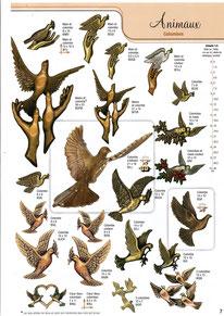 bronze-plaque-funeraire-colombe-animaux