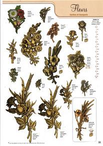 bronze-plaque-funeraire-fleurs-gerbes-bouquet