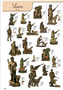 bronze-decoration-cimetiere-loisirs-chasse-chasseur-chien-fusil