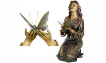 statue-sepulture-ornement-fleurale-decoration-bronze