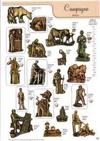 bronze-funeraire-metiers-campagne-pompier-bucheron-semeuse-forgeron