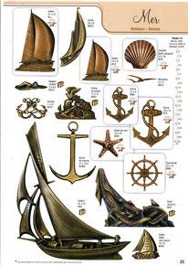bronze-funeraire-mer-bateaux-voiliers-ancres-barre