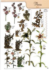 bronze-decoration-plaque-funeraire-fleurs-divers