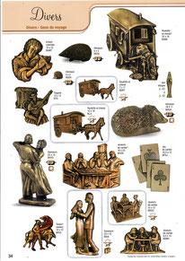 bronze-funeraire-decoration-plaque-gens-du-voyage-roulotte-carets-cartes