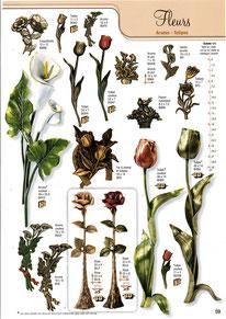 bronze-plaque-funeraire-arum-tulipe
