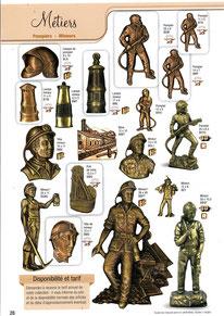 bronze-decoration-plaque-funeraire-metiers-pompiers-mineurs-lampes-huile