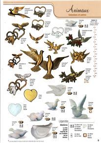 plaque-funeraire-bronze-ornement-funeraire-colombe-oiseuax