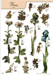 bronzes-plaque-funeraire-fleurs-diverses